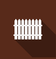 fence flat icon with long shadow vector image vector image
