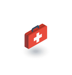medicine chest isometric flat icon 3d vector image