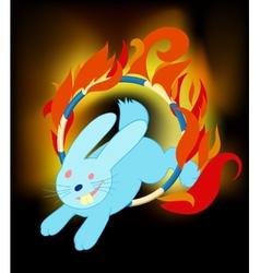 rabbit jumping vector image