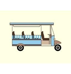 Tourist walking safaris color transport vector