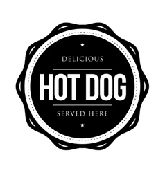 Hot Dog vintage vector image vector image