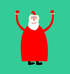 santa claus isolated merry christmas grandfather vector image vector image