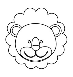 Figure face lion icon vector