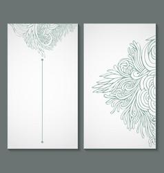 Ornate floral vector image
