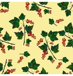red berries template vector image vector image