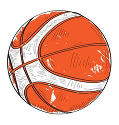 retro basketball ball vector image vector image
