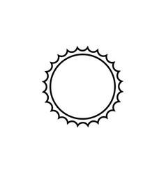 sun line icon travel tourism vector image