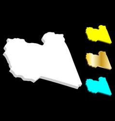 3d map libya vector