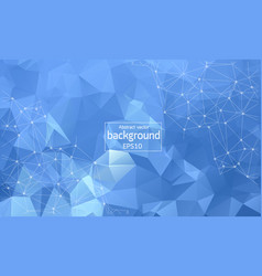 Abstract blue white polygonal space background vector