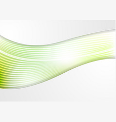 abstract smooth green waves and lines pattern vector image
