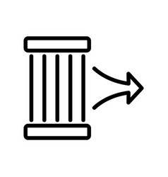 Air discharge through cleaning plates icon vector