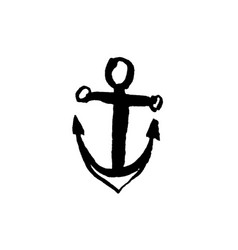 anchor icon dry brush vector image