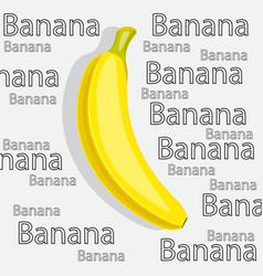 banana icon banana icon isolated flat banana vector image