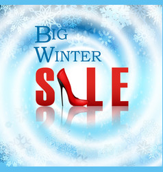 Banner big winter sale poster vector