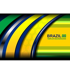 Banner brazil curve backgrounds vector