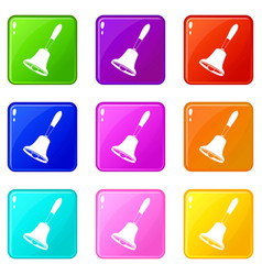 Bell icons 9 set vector