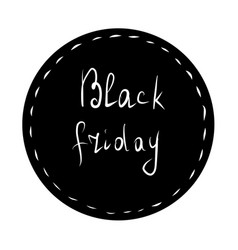 black friday lettering black sticker vector image