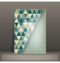Brochure flyer geometric template design vector
