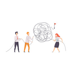 Business team searching for ways to success symbol vector