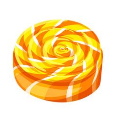 Candy swirl icon cartoon style vector