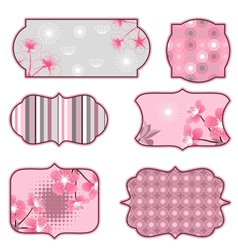 cherry blossoms design elements labels vector image