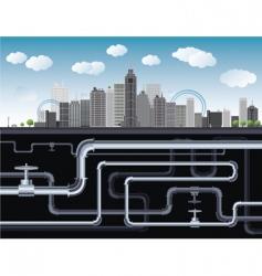 City illustration vector