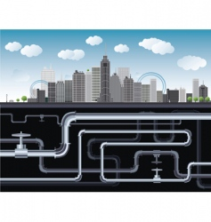 city vector image