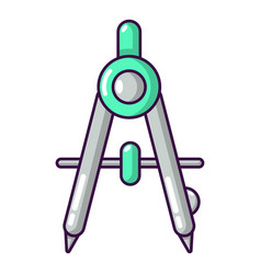 compasses school icon cartoon style vector image