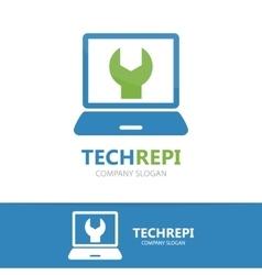 Computer and laptop repair logo vector