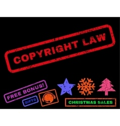Copyright Law Rubber Stamp vector image