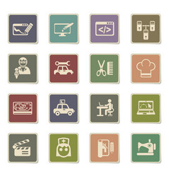 Courses icon set vector
