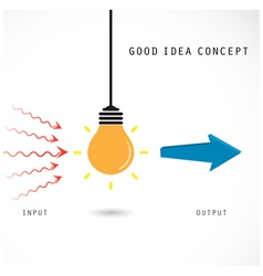 Creative light bulb concept design for poster vector image