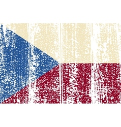 Czech Republic grunge flag vector image