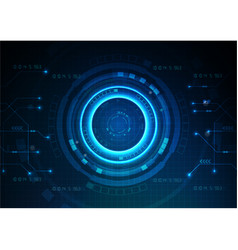 dark blue technology game background vector image