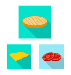 design of burger and sandwich icon set of vector image