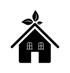 Eco friendly home icon image vector