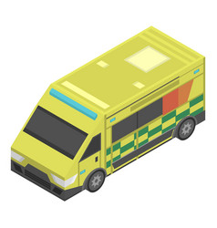 emergency ambulance icon isometric style vector image