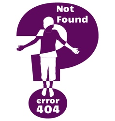 Error 404 vector