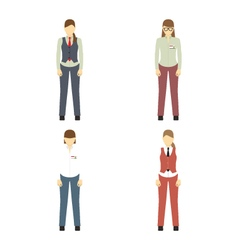 Female figures avatars Business people icons vector image