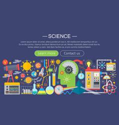 flat design concept science horizontal banner vector image