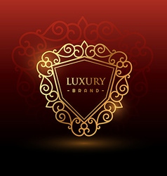 golden luxury symbol vector image