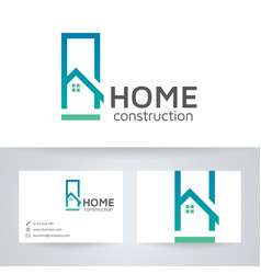 Home construction logo design vector