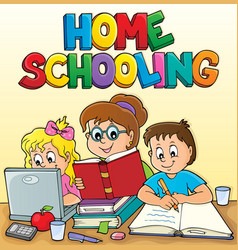 Home schooling theme image 2 vector