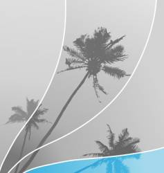 illustration with palm trees vector image