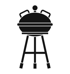 Kettle barbecue icon simple style vector