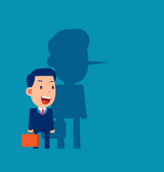 Long nose business person a person lying vector