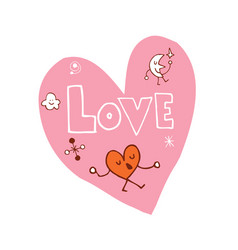 love heart shaped design vector image