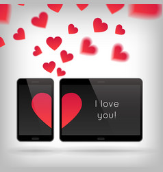 Love on gadget vector