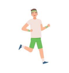 Man on a morning run vector
