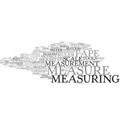 measure word cloud concept vector image